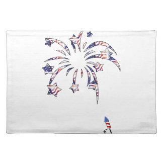 花火アメリカ米国の国旗の独立D ランチョンマット