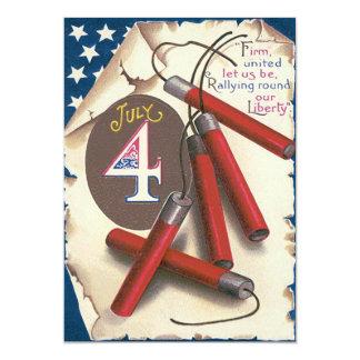 花火米国旗の独立宣言 カード