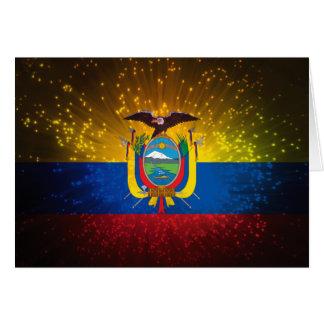花火; エクアドルの旗 カード