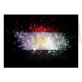 花火; エジプトの旗 カード