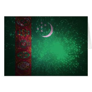 花火; タキマンニスタンの旗 ノートカード