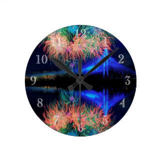 花火 ラウンド壁時計