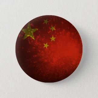 花火; 中国の旗 5.7CM 丸型バッジ