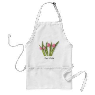 花盛りのチューリップが付いているエプロン スタンダードエプロン