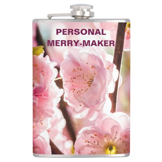 花盛りのプラム-ピンクのParadize フラスク