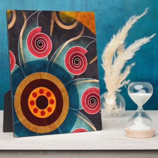 花色の抽象芸術のベクトル芸術のプラク フォトプラーク