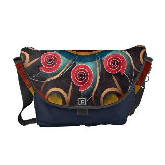 花色の抽象芸術のベクトル芸術のメッセンジャーバッグ メッセンジャーバッグ