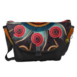 花色の抽象芸術のベクトル芸術の大きいバッグ メッセンジャーバッグ