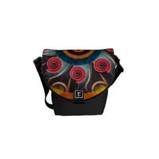 花色の抽象芸術のベクトルArttの小型バッグ クーリエバッグ