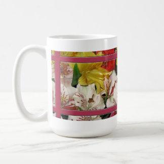 花花束のコーヒー・マグ コーヒーマグカップ