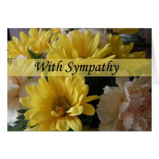 花花束の大きいフォントの悔やみや弔慰カード カード