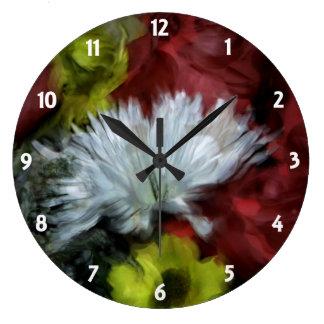 花花束の柱時計 ラージ壁時計