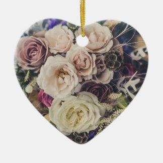 花花束の結婚 セラミックオーナメント