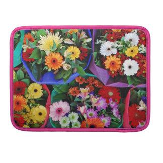 花花束のMacBookのカラフルな袖 MacBook Proスリーブ