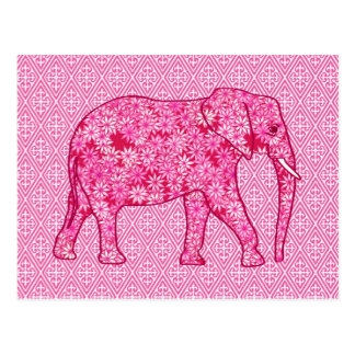 花象-明るい赤紫色のピンク ポストカード