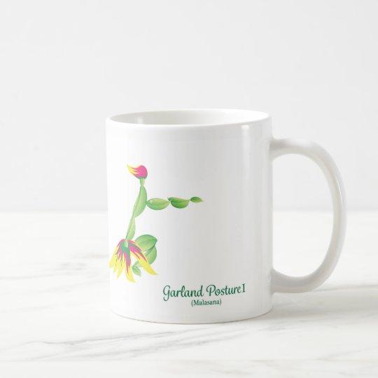 花輪の姿勢(白いマグ) コーヒーマグカップ