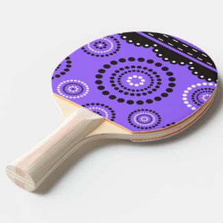 花輪のARTdecoの白黒 + あなたのbackgr。 色 卓球ラケット