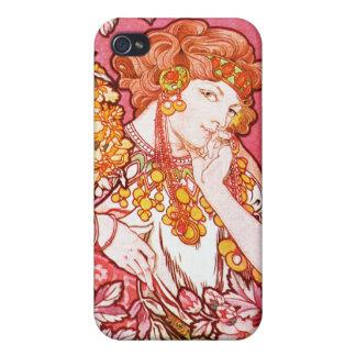 花間の赤毛、アルフォンス島のミュシャ iPhone 4/4S カバー