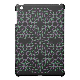 花3DのリボンのiPadのSpeckの緑の紫色の箱 iPad Miniカバー