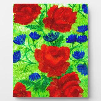 花6の花束 フォトプラーク