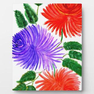 花9の花束 フォトプラーク