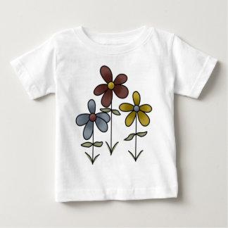 花 ベビーTシャツ
