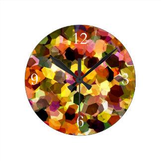 花 ラウンド壁時計
