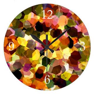 花 ラージ壁時計