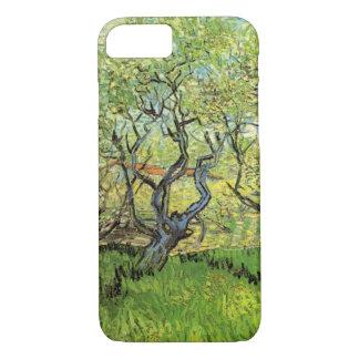 花、ヴィンテージのファインアートのゴッホ果樹園 iPhone 8/7ケース