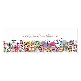 花|庭|白い|細い|ビジネス|プロフィール|カード ビジネスカード