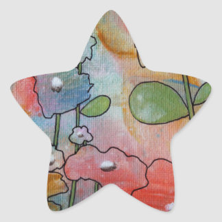 花 星シール