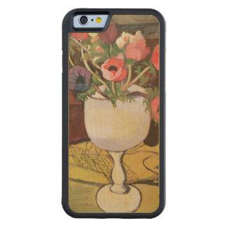 花、白いガラスのアネモネのつぼ CarvedメープルiPhone 6バンパーケース