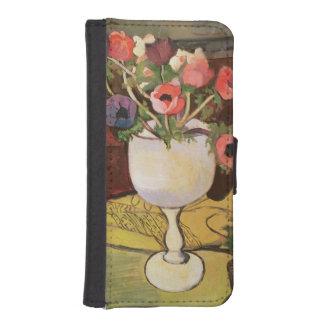 花、白いガラスのアネモネのつぼ iPhoneSE/5/5sウォレットケース