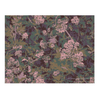 花、葉およびカムフラージュ ポストカード