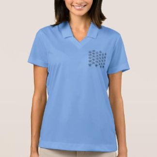 花/青が付いているナイキTシャツ ポロシャツ