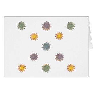 花、黄色、緑、紫色青 ノートカード
