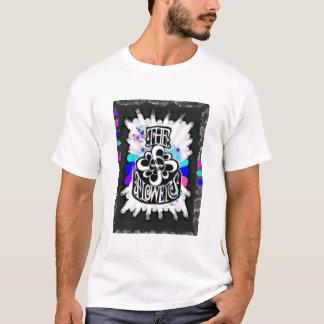 花-黒い巻き毛gals tシャツ