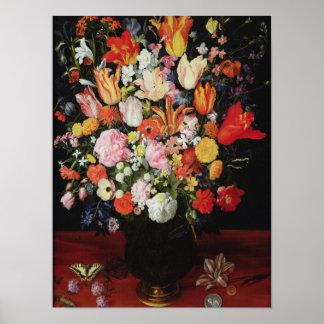 花、1610年代の静物画 ポスター