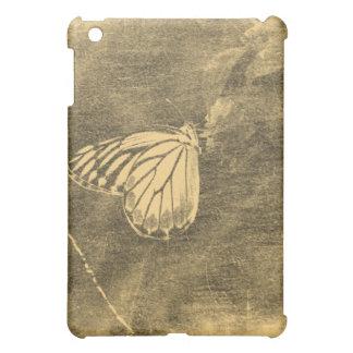 花#2のヴィンテージの蝶 iPad MINIカバー