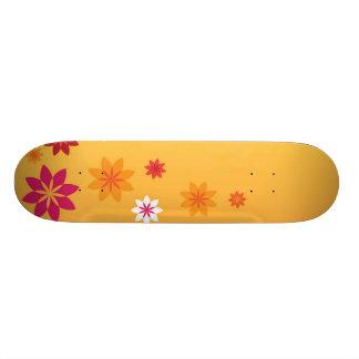 花 21.6CM スケートボードデッキ