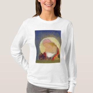 花、c.1900を持つ女の子のプロフィール tシャツ