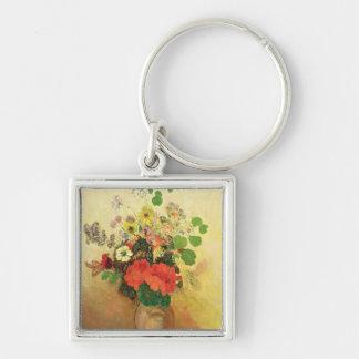 花、c.1908-10 (キャンバスの油)のつぼ キーホルダー