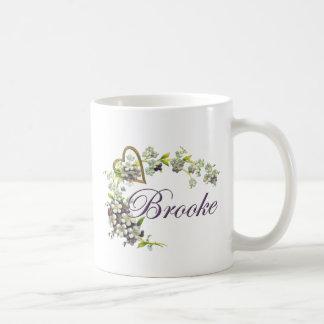 花Brookeとのハート コーヒーマグカップ