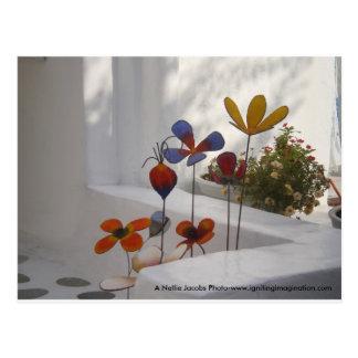 花Mykonos、ギリシャ ポストカード