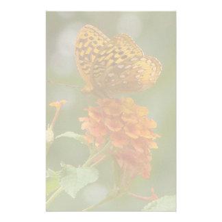 花Spicebushの蝶花 便箋