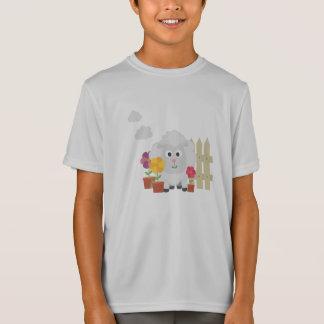 花Z67e8を持つ園芸ヒツジ Tシャツ