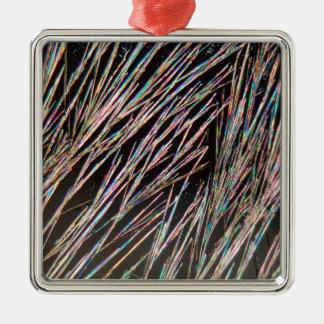 芳香の型枠: クマリンの水晶 メタルオーナメント