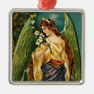 芳香-緑の翼との天使 メタルオーナメント