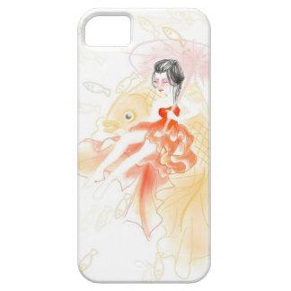 芸者および金魚の電話カバー iPhone SE/5/5s ケース