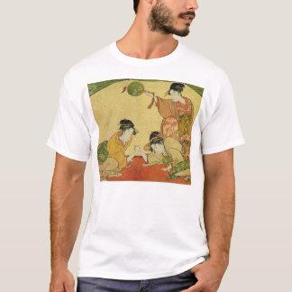 芸者のアームレスリング Tシャツ
